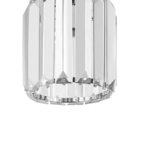 Deckenleuchte Merilo Chrom Kristallglas