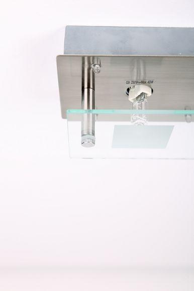 LHG Deckenleuchte, 3-flammig, LED Lichtpunkte, rechteckig, modern, L 28 cm