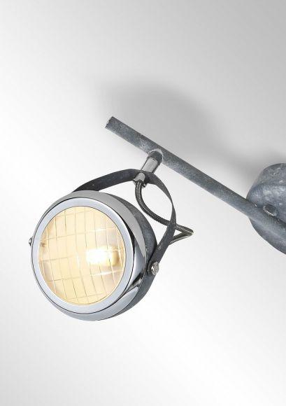 Deckenstrahler Rider 2-flammig in Betonoptik
