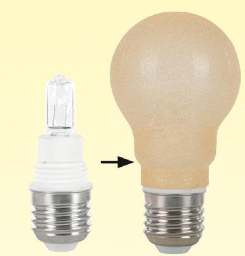Dekor-Halogen Sockelset - Eisdekor - E27 mit G9-Leuchtmittel - 42 Watt