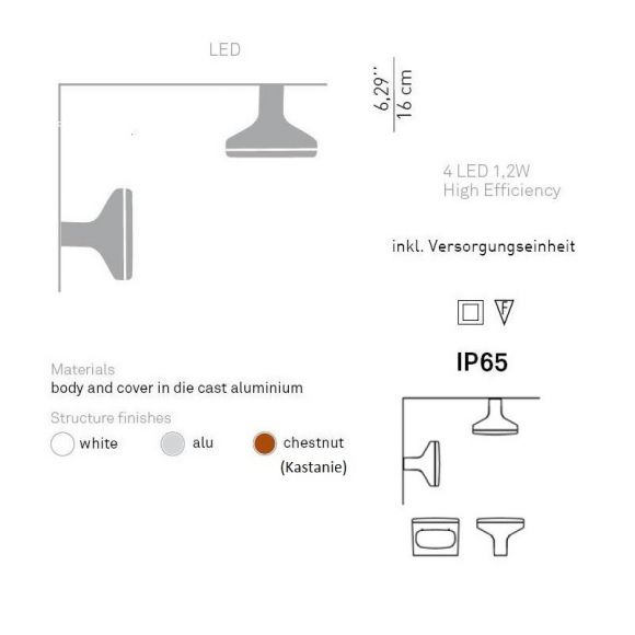 Design LED-Pollerleuchte Sky, 2x5W LED