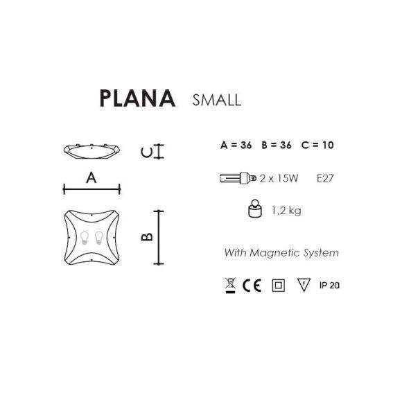 Slamp Plana Venti, weiß mit Dekor - in 3 Größen