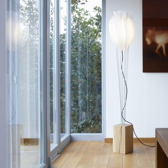 domus design standleuchte eichenfu lunopal schirm wohnlicht. Black Bedroom Furniture Sets. Home Design Ideas