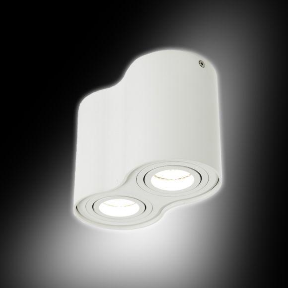 LHG Downlight 2-flammig in Weiß minium inklusive LED 2 x 7 Watt