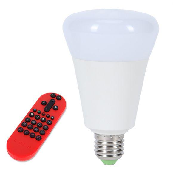 E27 RGBW Lola Bulb 14 W LED, inkl. Fernbedienung