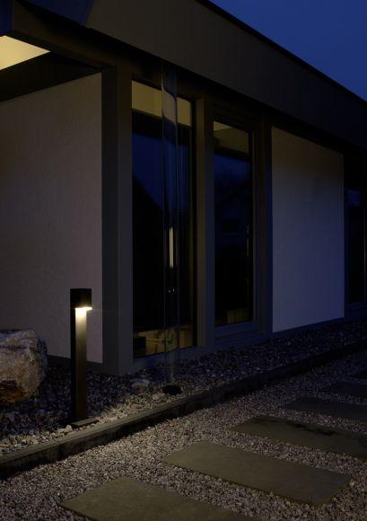 Eckige LED-Wegeleuchte in vier Ausführungen