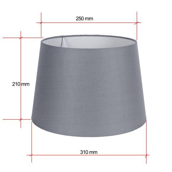 edler lampenschirm stoff grau oder wei wohnlicht. Black Bedroom Furniture Sets. Home Design Ideas