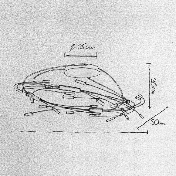Escale Design 24-flammige Deckenleuchte Spin, 2 Oberflächen