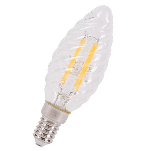 Filament LED E14, Twist Candle, 4W, 400Lm, 2700K, 300°