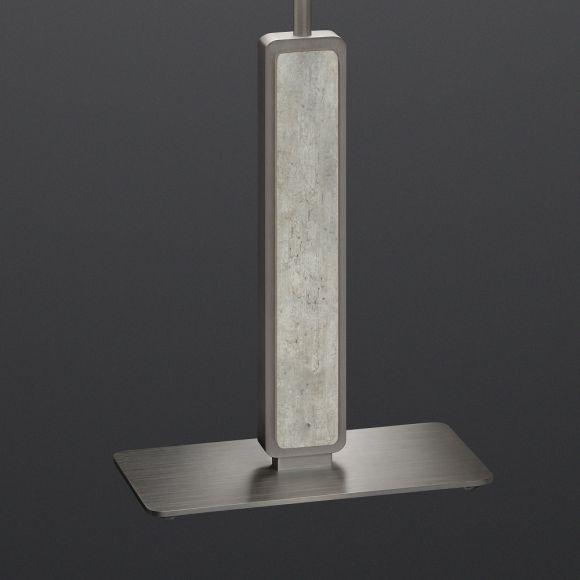 Hockerleuchte Switsch Nickel-matt / Betonoptik, Schirm wählbar