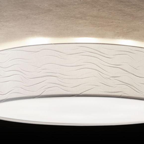 Holtkötter Deckenleuchte rund mit weißem Wellenschirm