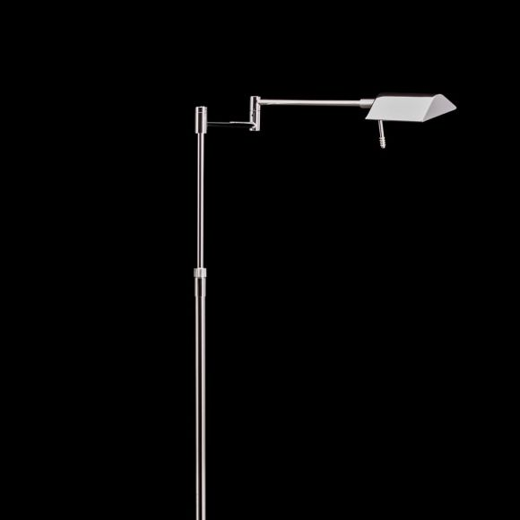 Holtkötter LED-Leseleuchte, 1 Tastdimmer, Nickel-matt