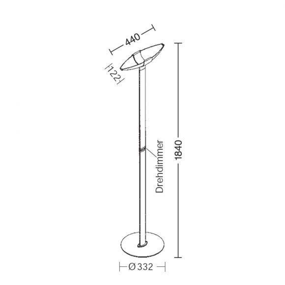 Holtkötter LED-Standfluter Serie 2721