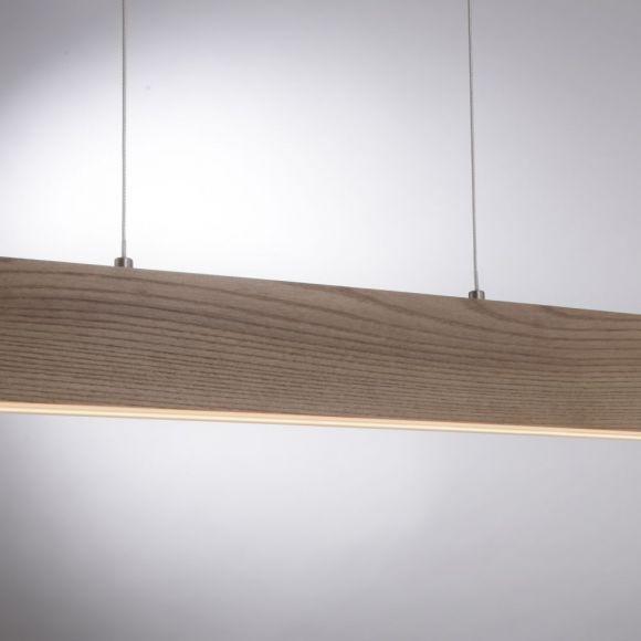 Holz LED Deckenleuchte Q-Timber 30W Smart-Home-Q-Leuchte, dimmbar über Fernbedienung, höhenverstellbar