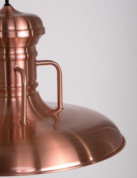 Industrie-Style Pendelleuchte aus Stahl Ø 40cm Farbe wählbar