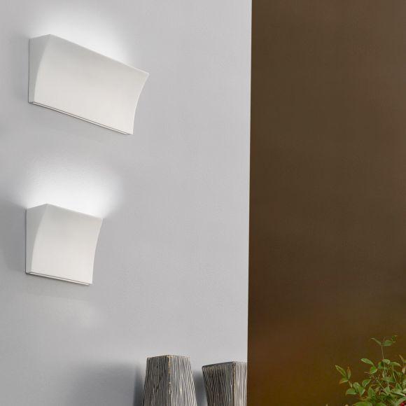 Kolarz® Wandleuchte Delon weiß Keramik, zwei Größen