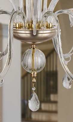 Kristall Kronleuchter in Gold 24 K oder Silber-antik/Gold