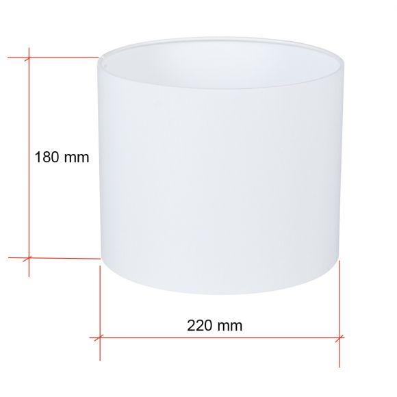 Lampenschirm E27 Fassung creme oder weiß Ø 22cm