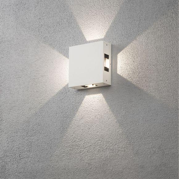 LED Außenwandleuchte New Cremona  - Weiß oder Anthrazit