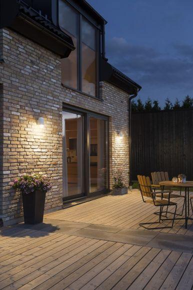 LED Außenwandleuchte Sassari in Weiß oder Schwarz