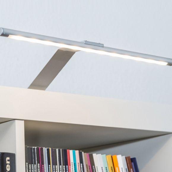 LED Aufbauleuchte 32,5cm in nickel matt