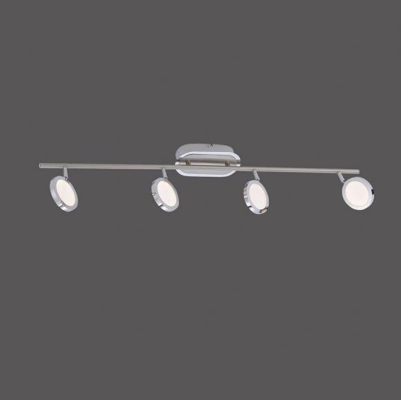 LED Deckenleuchte 4-flammig aus Stahl und Chrom