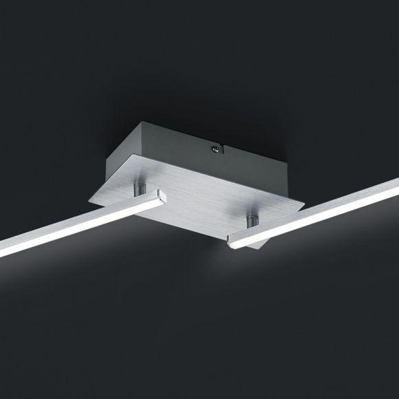 LED Deckenleuchte in Aluminium gebürstet -  Länge 180cm - inklusive 4x 11W LED je 1100lm 3000K + Extra 1x GU10 LED Leuchtmittel zur freien Nutzung