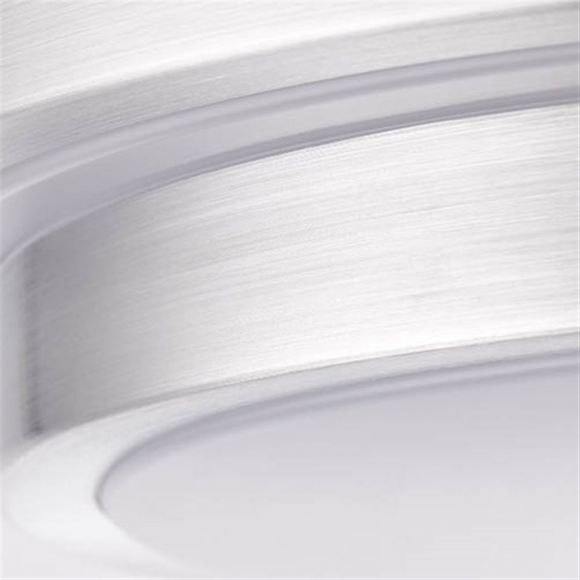 LED Deckenleuchte, D 41cm, aluminium, Smart Home, Lichtfarbe steuerbar