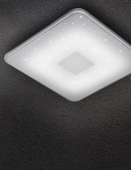 LED Deckenpanel 42,5x42,5cm, 30 W, CCT dimmbar per  Fernbedienung