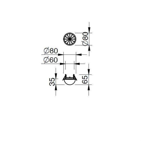 LED Einbauleuchte Stella  -  Messing poliert oder Chrom