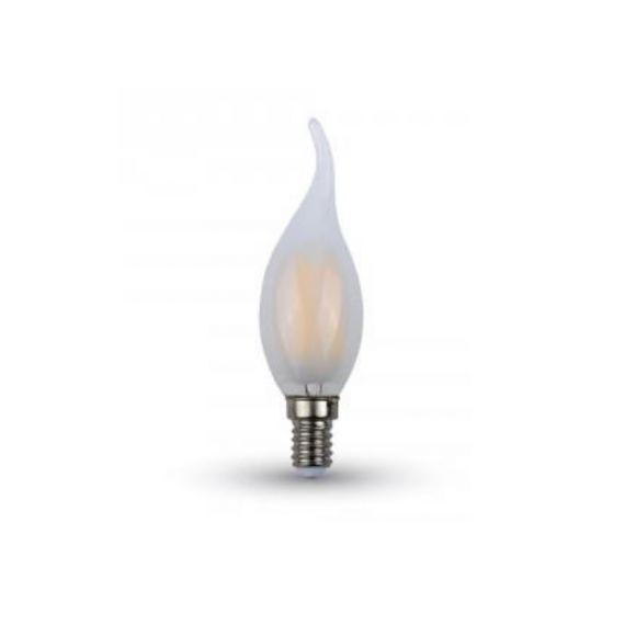 LED Filament Kerze E14 in Windstoßoptik mit 4 Watt 400 Lumen
