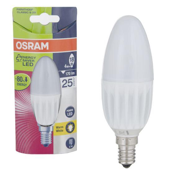 LED Kerze 4W E14 170lm 3000K Energieeffizienzklasse A