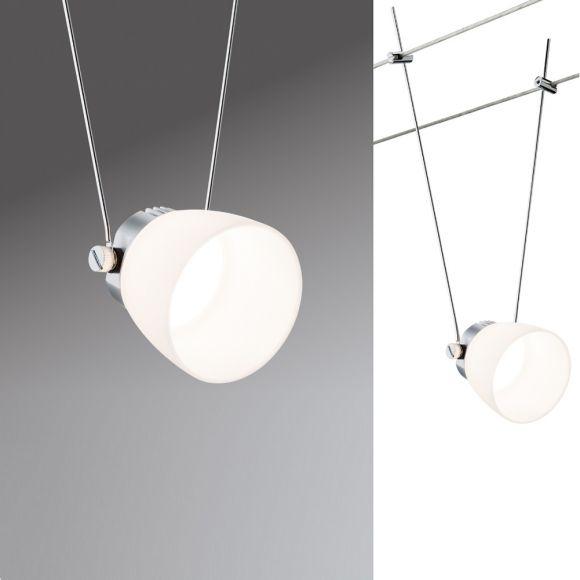 LED Komplett-Seilsystem Wire Systems Set Ice LED II Chrom-Weiß