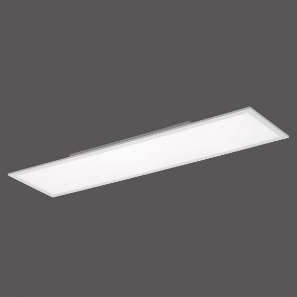 LED Panel 38W Deckenleuchte 120x30 cm, per Fernbedienung dimmbar, ideal fürs Büro, neutralweiß tageslichtweiß
