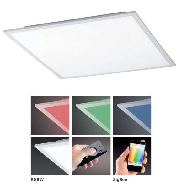 LED Panel Q-Flag 36W, Smart Home, weiß, 45 x 45cm, dimmbar per Fernbedienung