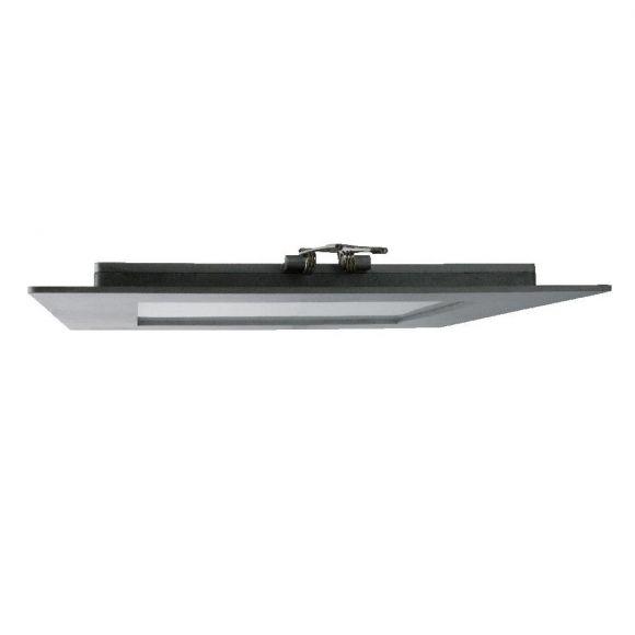LED Panel quadratisch für Deckeneinbau Innen und Außen, silber