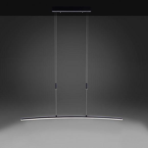 LED Pendelleuchte anthrazit o. silber, CCT-Lichtfarbsteuerung, 3 Stufen Sensordimmer, Höhenverstellbar