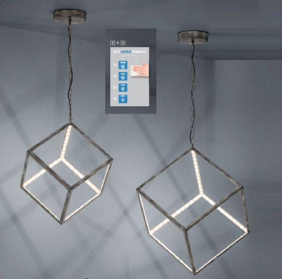 LED Pendelleuchte Dice- per Lichtschalter 4-fach dimmbar