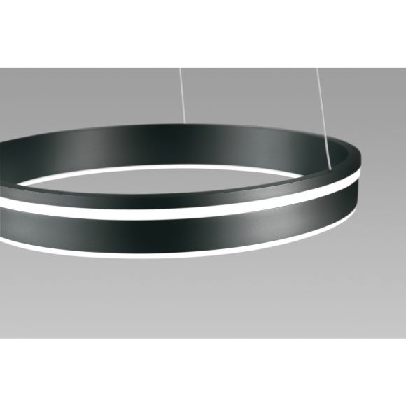 LED Pendelleuchte Q-VITO anthrazit, Smart Home, Fernbedienung 3 Größen