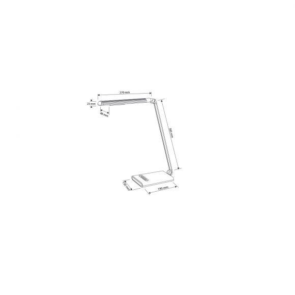 LED Schreibtischleuchte mit einstellbarer Lichtstufe in Anhtrazit / Silber