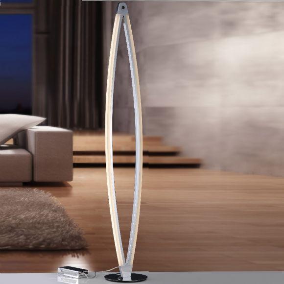 LED Stehleuchte in Chrom dimmbar mit 3-Stufen Berührungsdimmer
