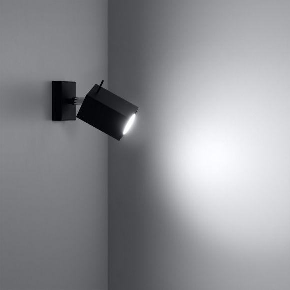 led strahler merida 1 stahl schwarz f r wand oder decke wohnlicht. Black Bedroom Furniture Sets. Home Design Ideas