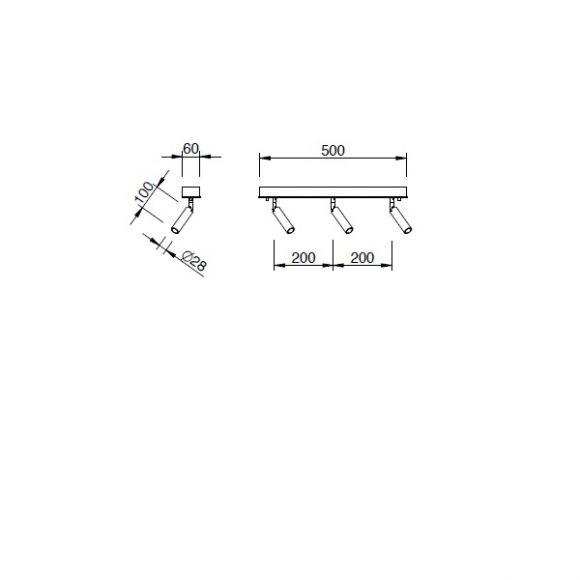 LED Strahlerserie Focus 3-flammig - 2 Oberflächen