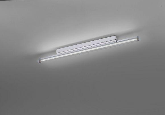 LED Wandleuchte, spritzwassergeschützt, Chrom, Länge 60cm