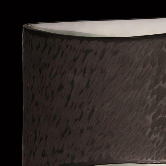 LED Wandleuchte, Up&Down, Blende dunkelbraun, LED warmweiß, 30cm breit