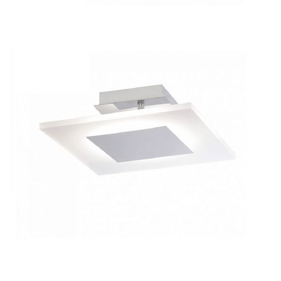 LED-Deckenleuchte Acrylglas satiniert, eckig 25x25cm