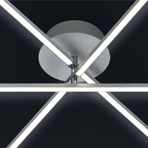 LHG LED-Deckenleuchte Alu-gebürstet - Ø60cm - 3x 6W LED