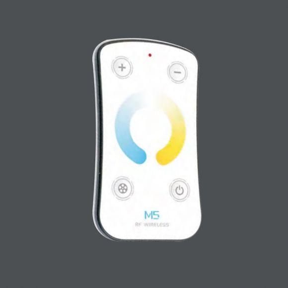 LED-Deckenleuchte Xena T mit Fernbedienung, Glas weiss-matt