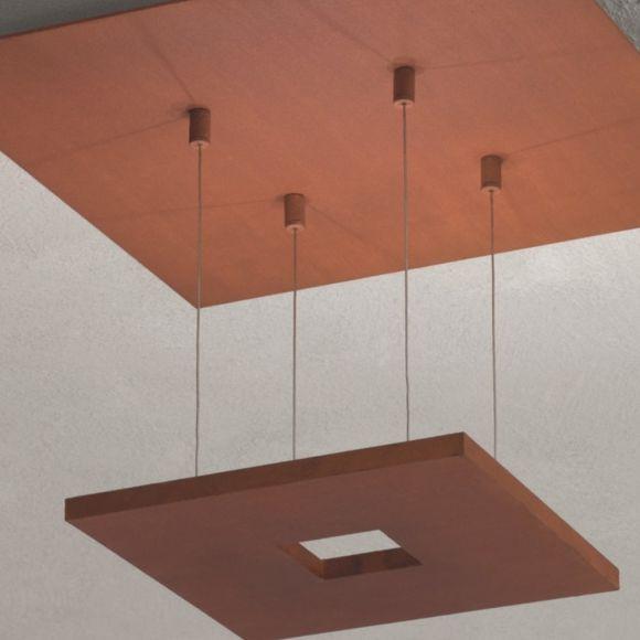 Escale LED-Deckenleuchte Zen in Rost, 2 Größen