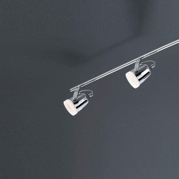 LED-Deckenstrahler 4-flg Metall Chrom